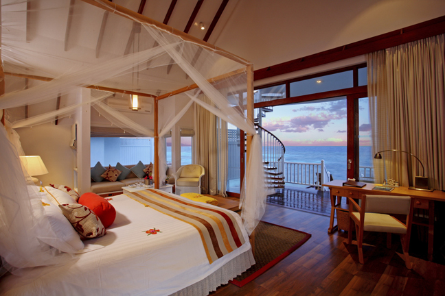 Centara Grand Island Resort  Spa Maldives - Luxury Sunset Water Villa