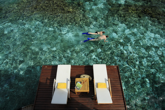 Centara Grand Island Resort  Spa Maldives - Sundeck at Luxury Sunset Water Villa